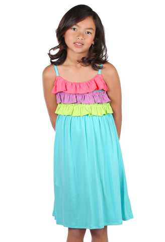 Lemon Loves Lime Sorbet Sun Dress sz 6 & 7 only