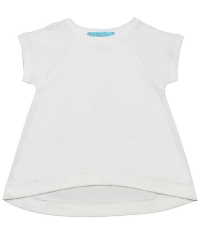 Lemon Loves Lime High Low Tee in White sz 4 only