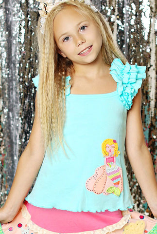 Lemon Loves Lime Mermaid's Treasure Tank Top sz 7 only