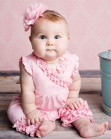 Lemon Loves Lime Ava Romper in Pink for Babies sz 18/24 mos only