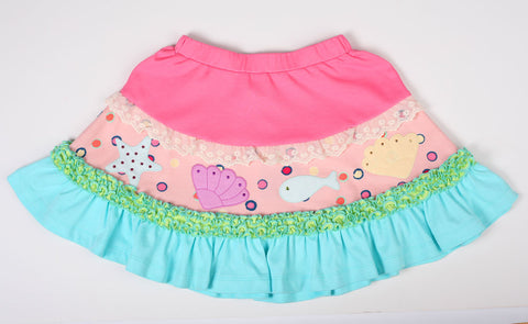Lemon Loves Lime Under the Sea Skirt sz 2  only