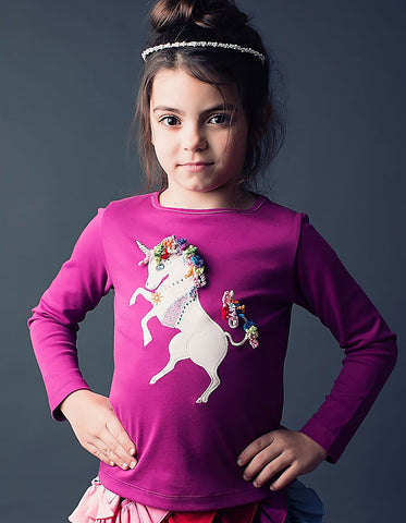Lemon Loves Lime L/S Unicorn Top sz 2 & 4