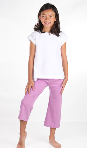 Lemon Loves Lime Cropped Yoga Pants in Smokey Grape