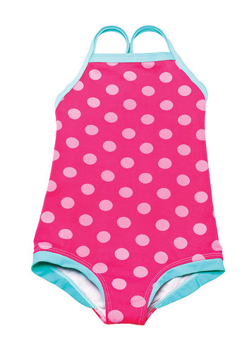 LiloTati Sporty Red & Pink Dot Swimsuit