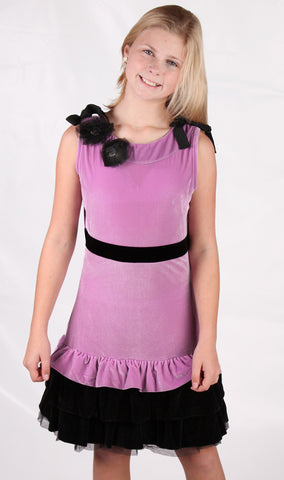 Royal Couture by Limeapple Lavender Velvet Versailles Dress sz 4
