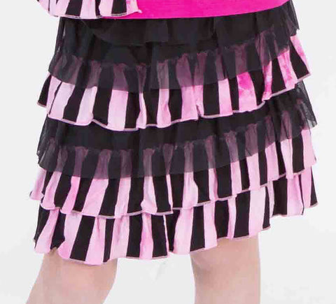 Limeapple Heartbeat Striped Tutu Skirt sz 4 & 8 only