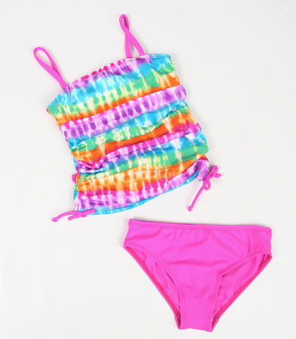Little Sea Gems Magenta Tie Dye Tankini