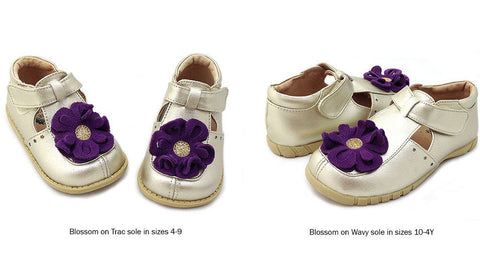 Livie and Luca Blossom Shoes in Gold sz 8 only CLEARANCE
