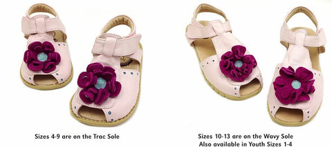 Livie and Luca Light Pink Bloom Shoes sz 4 infant CLEARANCE
