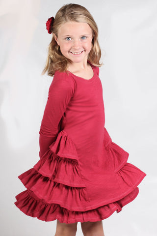 LunaLuna Copenhagen Lotus Ruffle Dress for Toddlers to Tweens