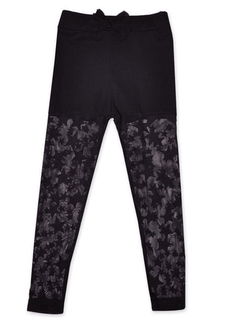 Maeli Rose Black Leggings with Stars