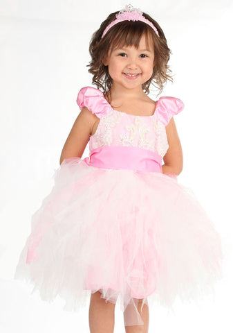 Maeli Rose Puff Sleeve Fairytale Princess Dress in Pink sz 8 & 9