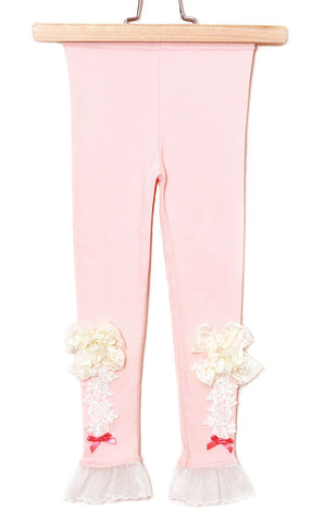 Maeli Rose Summer Rose Lace and Tulle Leggings