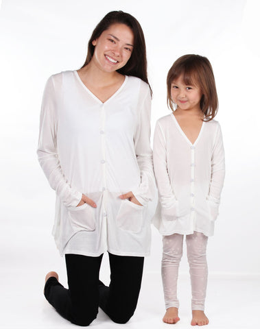 Maeli Rose Lightweight Lace Back Cardigan for Girls & Ladies