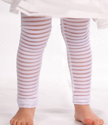 Maeli Rose White Ribbon Stripe Legging
