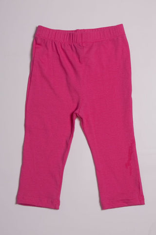 Maisonnette Dark Pink Capri Leggings for Babies & Toddlers
