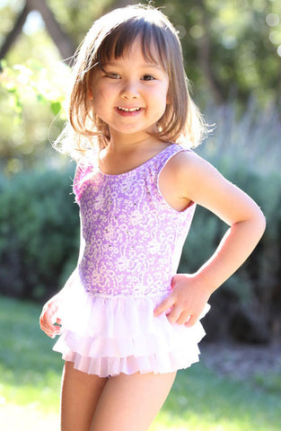 Malibu Hula Star Sugar Plum Tutu Swim Dress
