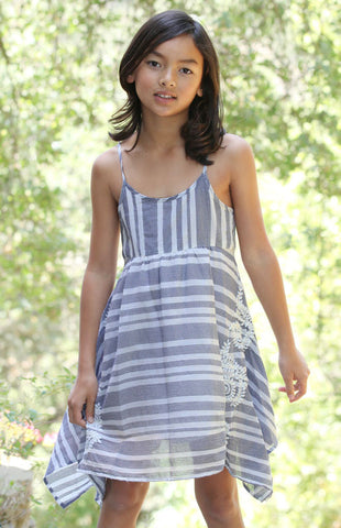 Mimi & Maggie Monterey Stripe Dress sz 14