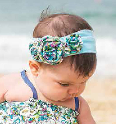 Mimi & Maggie Three Flowers Headband