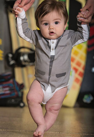 Mini Shatsu Modern Blazer Bodysuit for Baby Boys sz 3mos & 6mos only