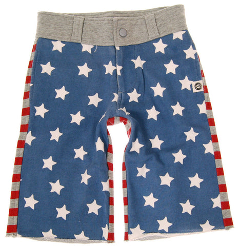 Mini Shatsu Vintage Stars n Stripes Stretch Knit Long Shorts for Boys sz  8