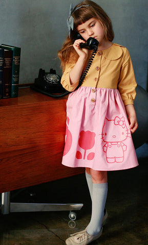 Misha Lulu Hello Kitty Shirtdress with Tulip Collar sz 12