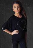 Miss Behave Comfy Studded Heart Top sz 12 only