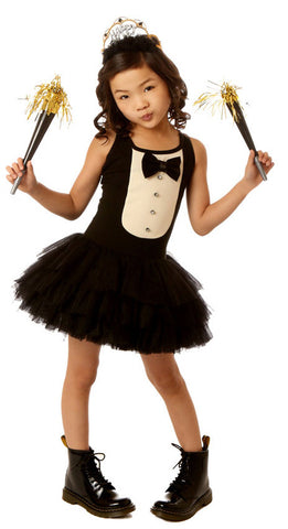 Ooh La La Couture Tuxedo Dress in Black sz 18m, 24m, and 4 only