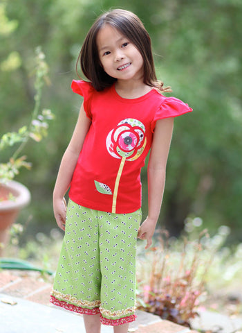 Moxie & Mabel Dahlia T-Shirt in Carnival Red sz 12m & 18m only