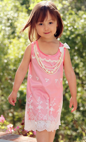 Mini Treasure Kids Cierra Necklace Lace Dress sz 8
