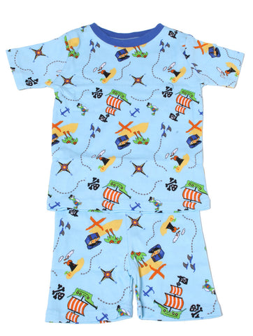 New Jammies Organic Short Pajamas in Pirates Treasure Map sz 2T only