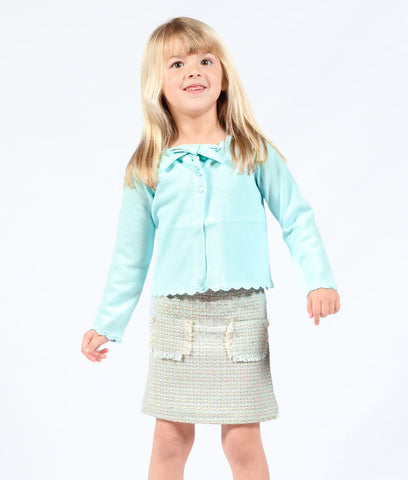 One Kid Boucle Chanel-Style Skirt