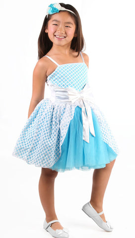"Ooh La La Couture Jenna ""Cinderella"" Dress in Frozen Aqua sz 2T 3T & 12 only"