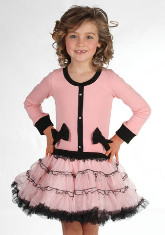 Ooh La La Couture Coco Cardigan Dress in Blush for Babies