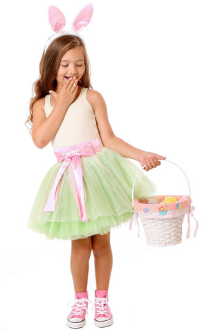 Ooh La La Couture Tie Bow Dress in Pastel Green -- a fresh dress for Spring 12m & 2t