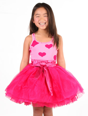 Ooh La La Couture Hearts Tie Bow Dress sz 12m