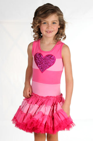 Ooh La La Couture Striped Heart Twirly Dress