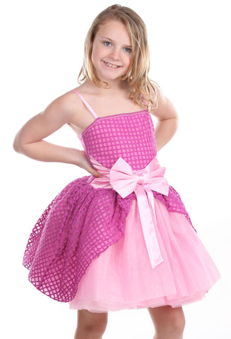 "Ooh La La Couture Jenna ""Cinderella"" Dress in Magenta & Pink Lady"