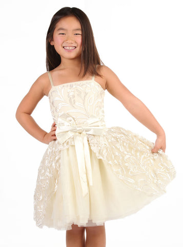 "Ooh La La Couture Jenna ""Cinderella"" Dress in Champagne"