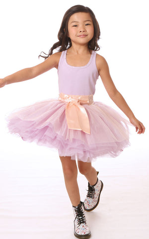 Ooh La La Couture Tie Bow Dress in Lilac