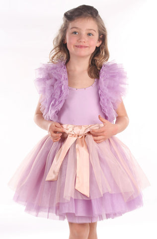 Ooh La La Couture Ruffle Shrug in Lilac sz 3T & 4T