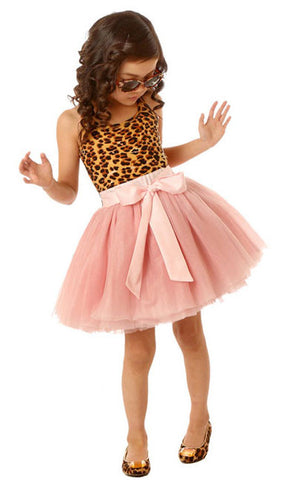 Ooh La La Couture Leopard Tie Bow Dress sz 2T only