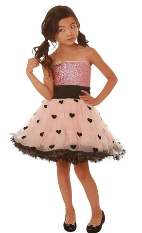 Ooh La La Couture Wow Pouf Dress in Black/Blush sz 3T & 4
