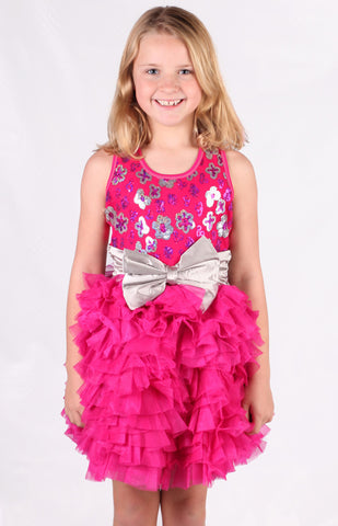 Ooh La La Couture Wow Dream Dress in Hot Pink sz 2T & 4 only