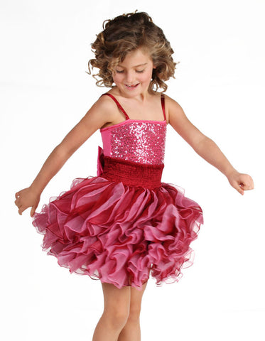 Ooh La La Couture Shimmy Dress in Candy Pink & Red sz 2T & 4 only