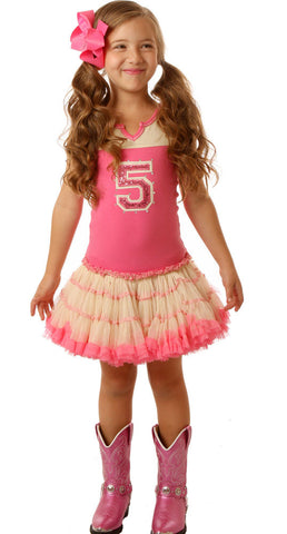 Ooh La La Couture Sleeveless Varsity Birthday Dress