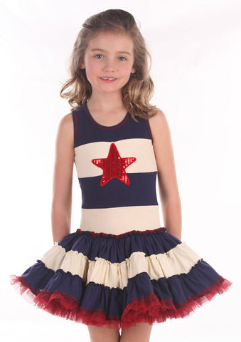 Ooh La La Couture 4th of July Star Dress sz 2T only