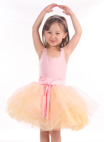 Ooh La La Couture Tie Bow Dress in Pink Parfait -- Clearance!
