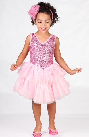 Ooh La La Couture Veve Dress in Pink Lady sz 12m 18m & 6x/7 only
