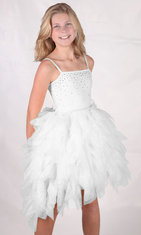 Ooh La La Couture Devin Dress with Swarovski Crystals in White sz 5 only